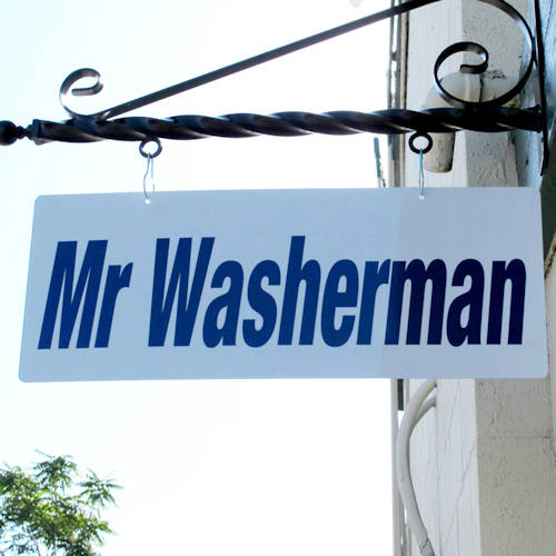 Mr Washerman Sign